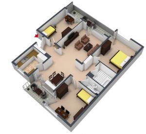 wohn esszimmer grosse. Black Bedroom Furniture Sets. Home Design Ideas